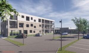 Visualisering - Nyt sundhedshus i Ry - Nodo Arkitekter skåret